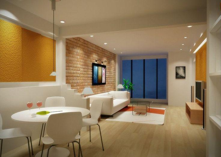 Modern Minimalist Cozy Appropriate Interior Lighting In Living Room