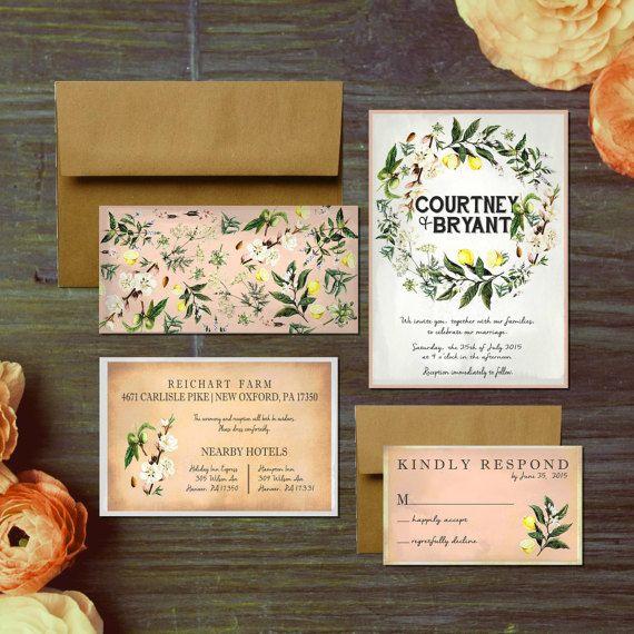 Custom Mediterranean Shower or Wedding Invites by PAPERandPASTICHE