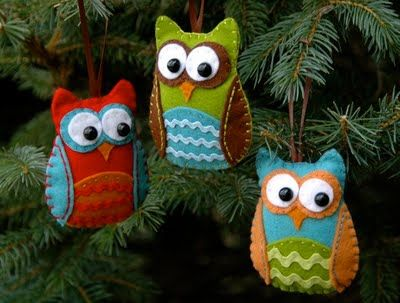 Owly christmas ornaments