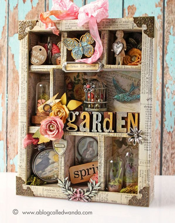 Spring Garden Configuration Box - by Wanda Guess