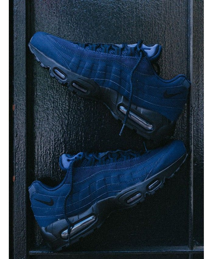 outlet store 4acaa defa2 Nike Air Max 95 Obsidian Black Trainers