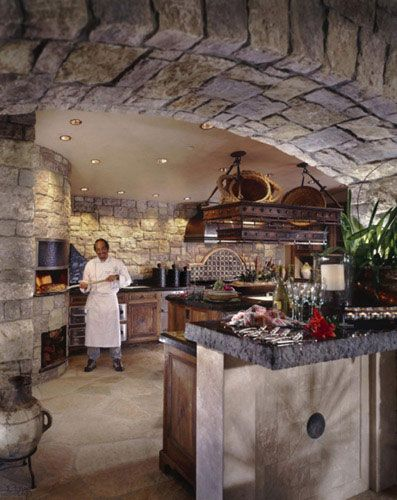 EarthStone Ovens - Wood & Gas Fire Ovens | Photo Gallery | Residential Gallery: Kitchens Chef, Stones Ovens, Kitchens New Houses, Indoor Pizza Ovens, Dreams Houses, Appliances Pizza Ovens, Photo Galleries, Doors Pizza, Arches Ideas