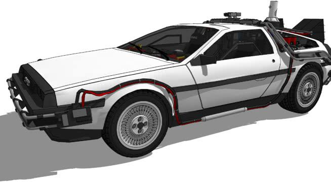 Delorean Dmc 12 The Time Machine Back To The Future Part Ii