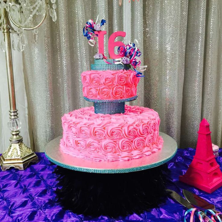 339 best images about rosette cakes on pinterest for 16th birthday decoration