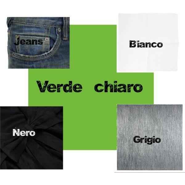 """Verde chiaro"" by annavenere3 on Polyvore"