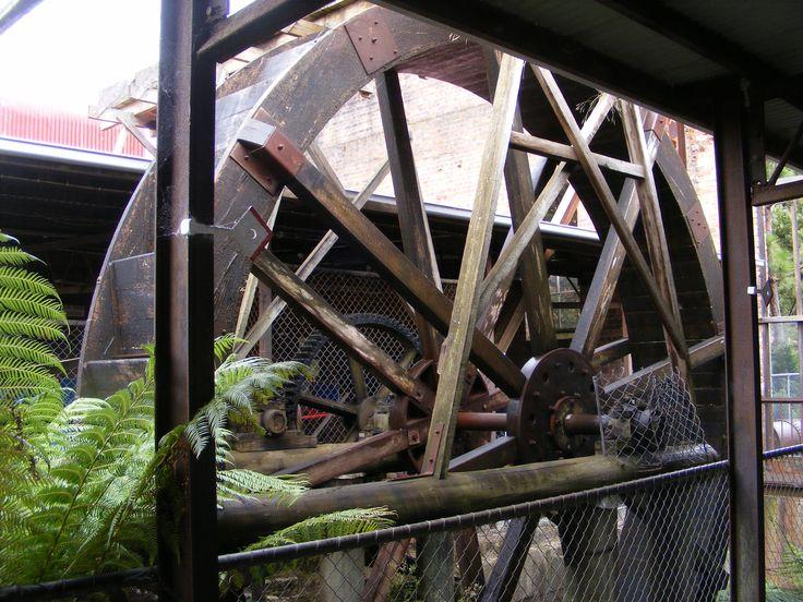 Waterwheel at Beaconsfield Mine.