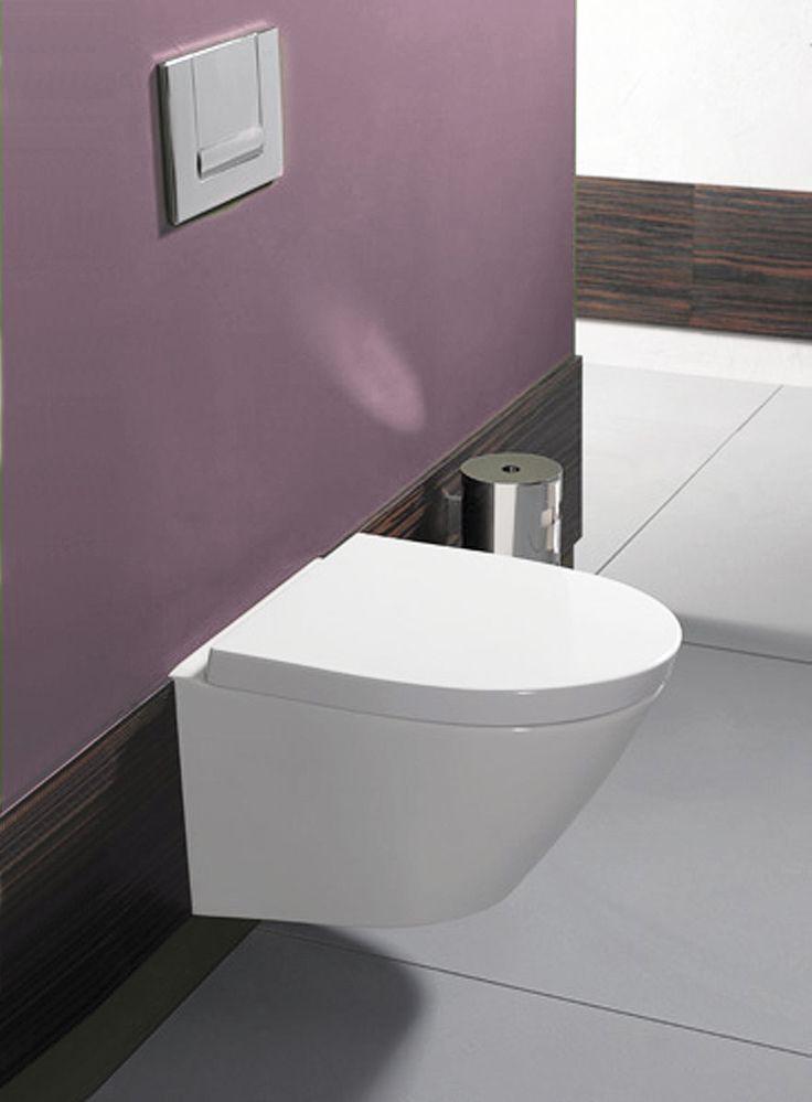 Toilettes wc suspendu alo de allia espace aubade sdb pinterest alo - Toilette noir suspendu ...