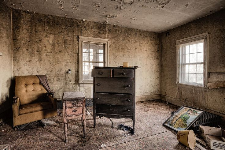 Inside Abandoned House   Inside Abandoned House Photos - Old Room - Life Long Gone Photograph