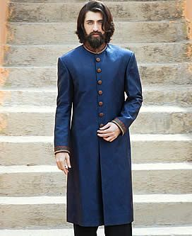 Rich Look Embellished Jamawar Groom Sherwani Richmond Virginia VA US Sherwani for Mens