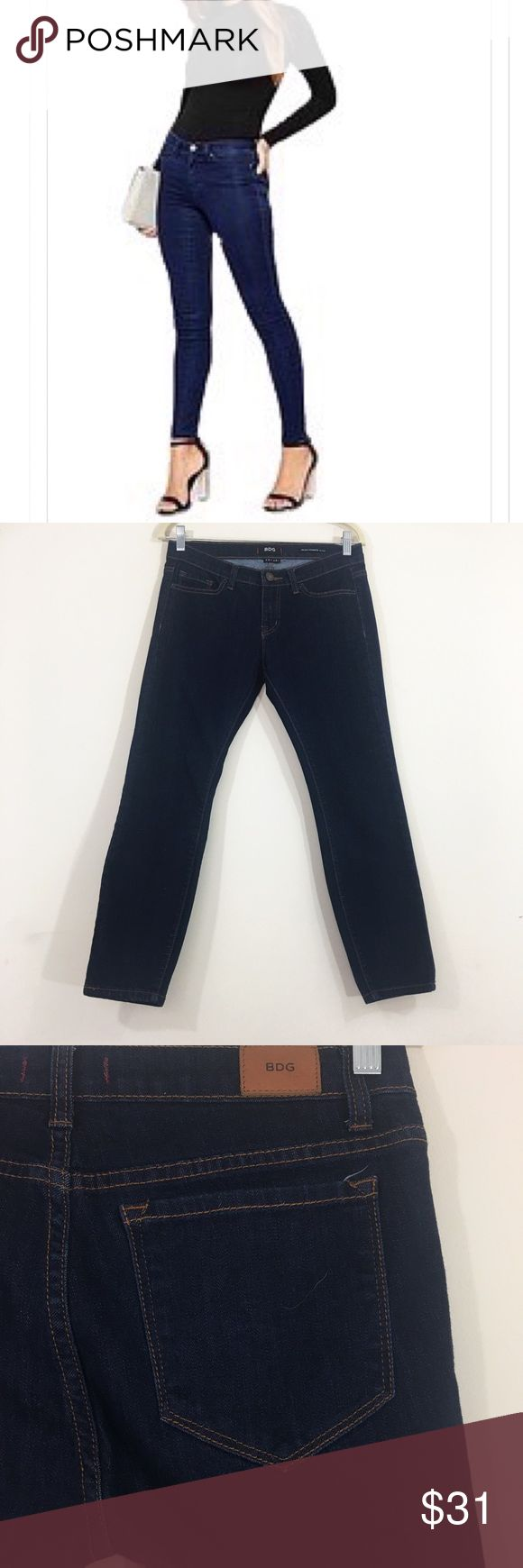 BDG Mid Rise Cigarette Jeans Inseam: 26 inches. These jeans are in excellent used condition. No stains or defects. They are mid rise cigarette grazer jeans. BDG Jeans Ankle & Cropped