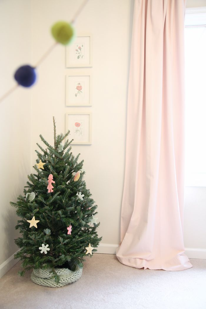 mini Christmas tree as seen on Elle Decor