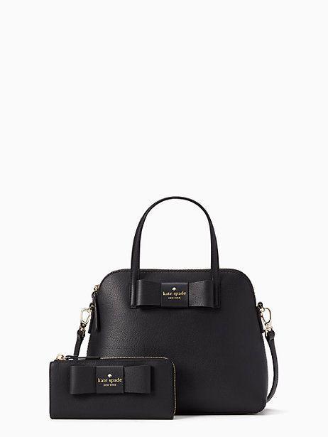 ecb30ee97324 KATE SPADE ROBINSON STREET MAISE Satchel Handbag Black & Nisha Wallet Set  NWT