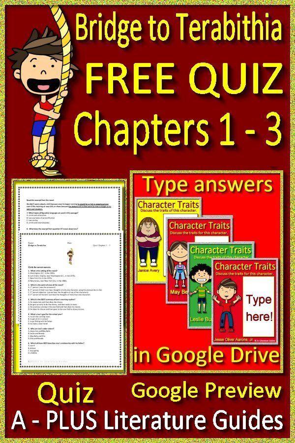 Bridge To Terabithia Novel Study Free Quiz Google Classroom
