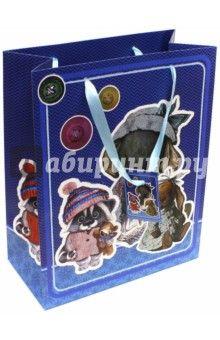 "Пакет бумажный ""Ретро-игрушки"" (26х32,4х12,7 см) (40883)"