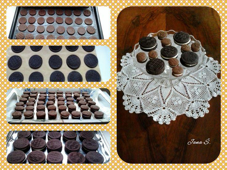 Domácí sušenky Oreo