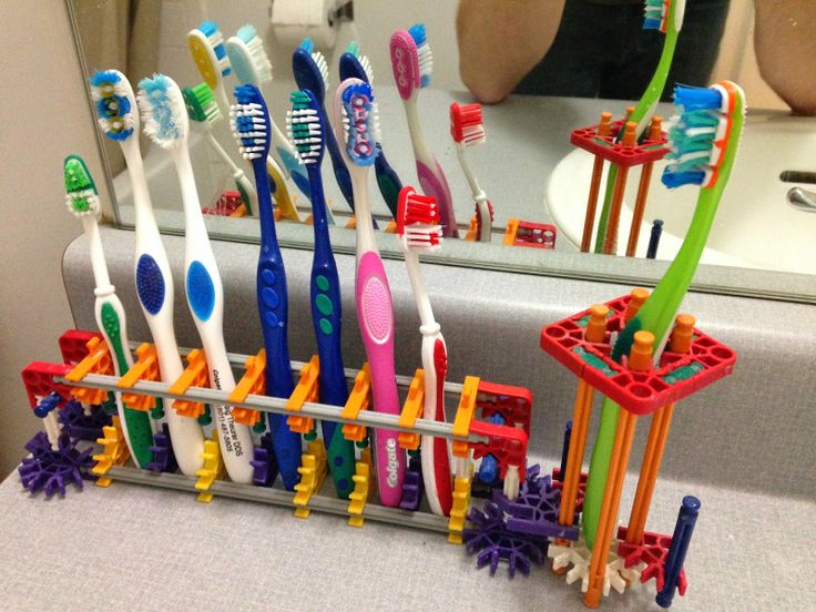 Ideas to Projects: K'nex Tooth Brush holder for my kids' bathroom