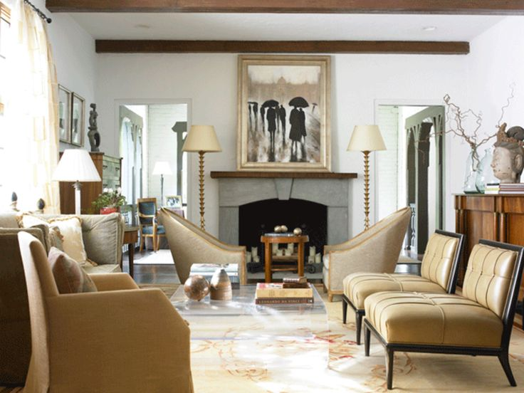 A Pair Of Our French Club Chairs Flank The Fireplace In This Atlanta Living Room Designed