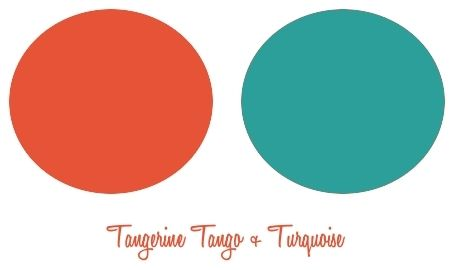 tangerine and turquoise: Colors Combos, Color Combos, Colors Tangerine, Colors Combinations, Color Combinations, Wedding Colors, Fabulous Colors, Colors Inspiration