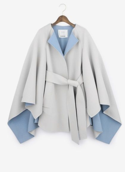 PLST ダブルフェイスケープコート / double face cape coat on ShopStyle