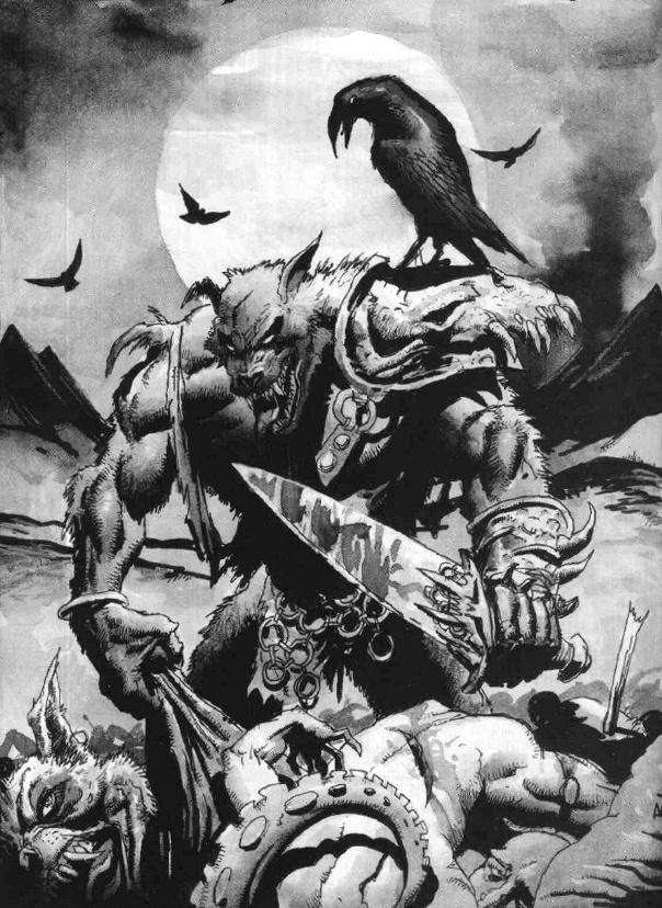 Corax - White Wolf, World of Darkness. | Werewolves ... Werewolf Warrior Art