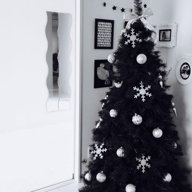 ma-さんの、IKEA,白黒病,ホテルライク,シンプルモダン,モノトーン,海外インテリアに憧れる,クリスマスディスプレイ,コストコ,ツリー,クリスマス,オーナメント,リビング,のお部屋写真
