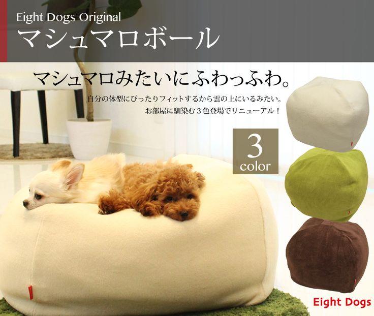 【楽天市場】【送料無料!】マシュマロボール(人・ペット兼用)【犬用品・猫用品/クッション】【ペットベット ペットソファ ペットベッド 犬ベット/洗える/マシュマロクッション 】:Eight Dogs