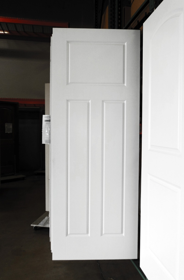 White interior doors 3 panel - 3 Panel Painted White Glenview Smooth Masonite Hollow Core Interior Door