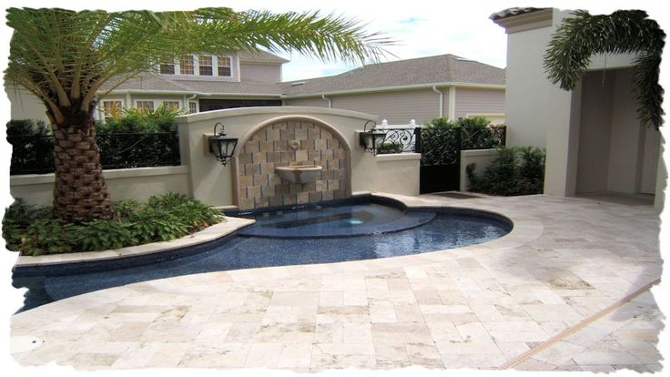 Pool Decks- Clay Brick, Pavers,Travertine