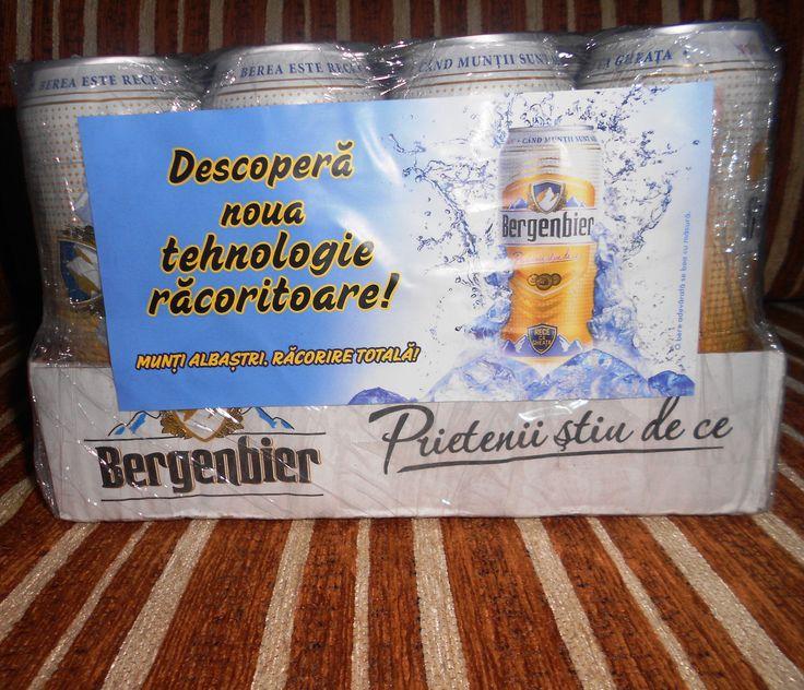 BUZZStore si Bergenbier mi-au trimis berea cu ambalaj inteligent , noua tehnologie THERMO-INK ne racoreste vara aceasta ,sa inceapa petrecerea!!! #BergenbierMuntiAlbastri