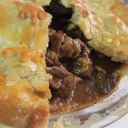 Steak and Irish Stout Pie Allrecipes.com - Yum! Makes me wish they hadn't requested corned beef this year!
