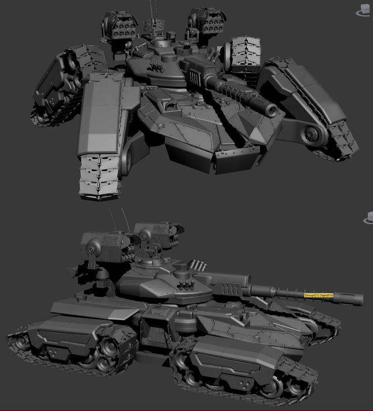 "ArtStation - Siege Tank | ""Total Domination"" | Plarium, Vladimir Silkin"