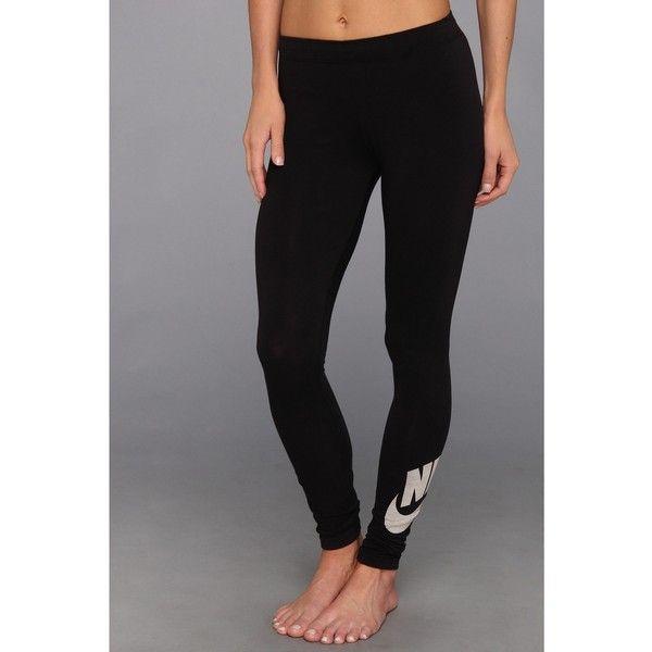 Nike Leg-A-See Logo Legging ($30) ❤ liked on Polyvore