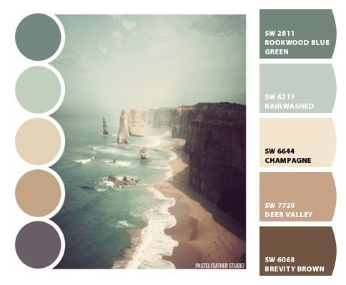 Need bedroom redecorating inspiration? Here's some great beach themed colors!