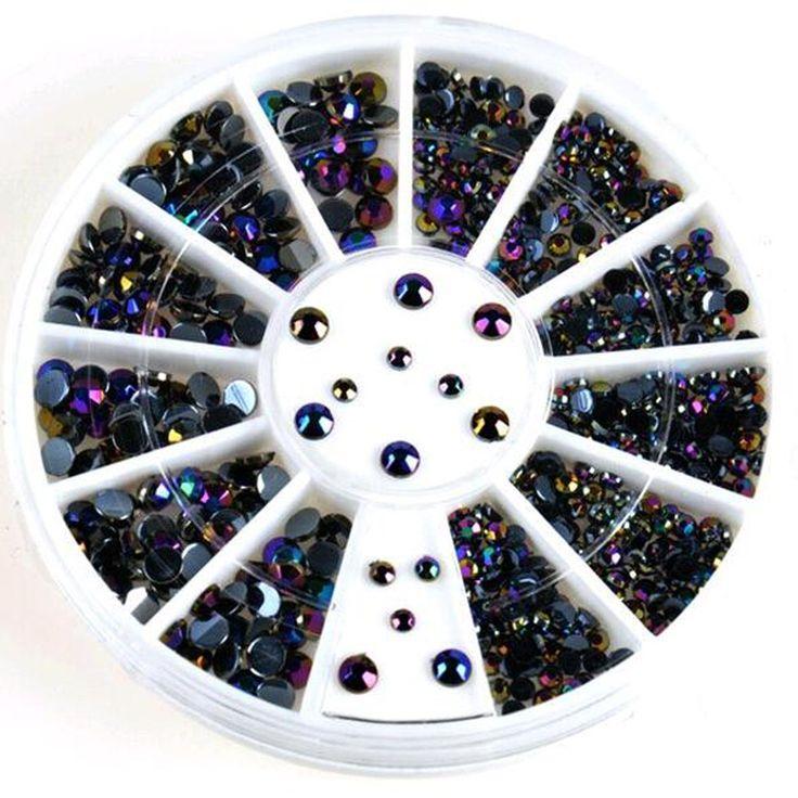 300 Pcsd decoration nail acrylic nail supplies UV gel nail tips charms + wheel beads DIY Wholesale NA28