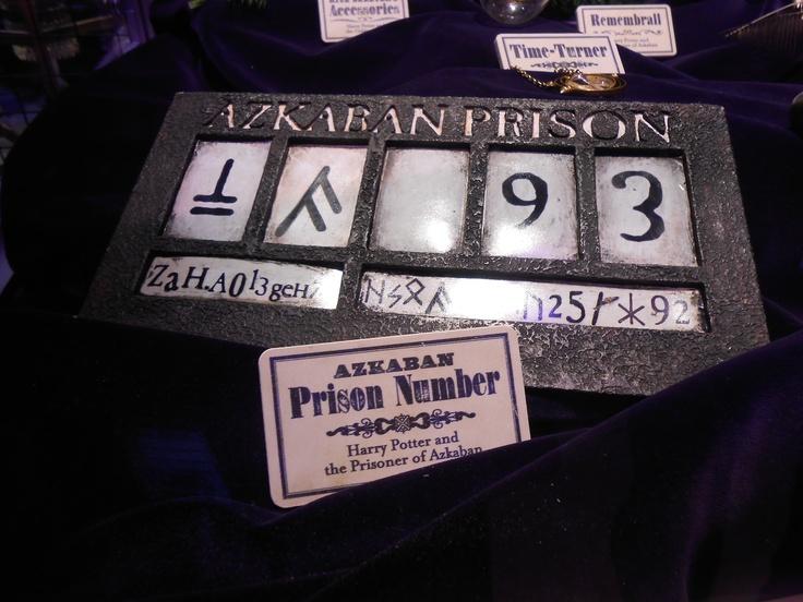 Azkaban Prison Number Harry Potter Party Pinterest