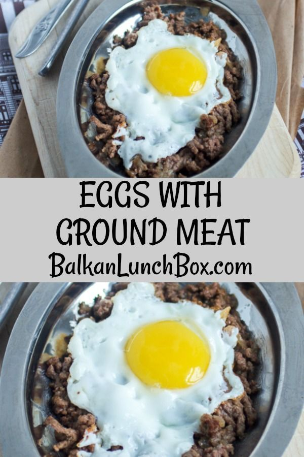 Individually You Love Them But Have You Had Eggs With Ground Meat Before One Pan Breakfast Delicious Beef Recipe Healthy Snacks Recipes Ground Meat Recipes