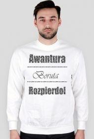 Boruta Wear! Street style! Biała bluza bez kaptura Awantura, Boruta, Rozpierdol! 33$  #street #style #boruta #wear #awantura #rozpierdol #bluza