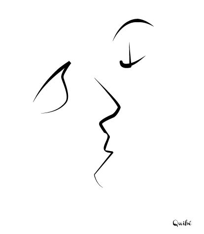 Minimalist kiss.... but softer edges and add a feminine touch to both