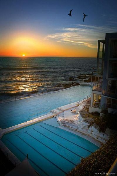 Wish I had swam in this lido while I was in Australia, but it was winter! In Bondi, Sydney.