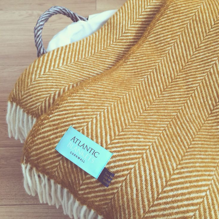Our Mustard Herringbone Knee Rug Has Doubled In Size And Is Now Available As A Standard Throw