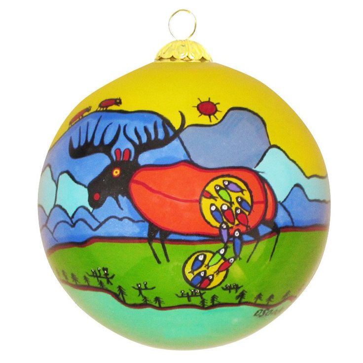 Giant Moose - Glass Ornament