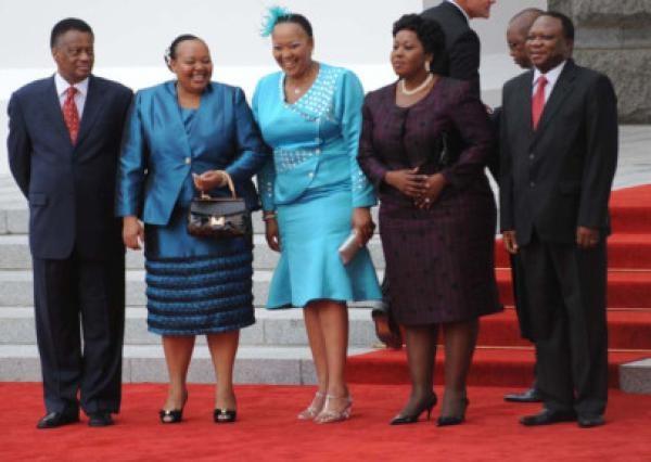SONA 2013 Fashion | National Assembly Speaker Max Sisulu, Nompumelelo Ntuli-Zuma, Thobeka Madiba-Zuma, Bongi Ngema-Zuma and NCOP chairman Mninwa Mahlangu | IOL.co.za