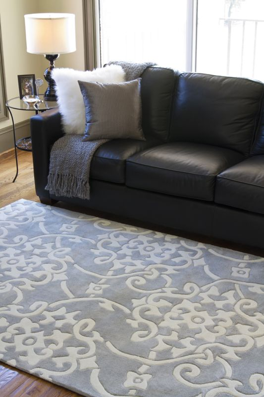 Want this pretty gray rug for the living room!
