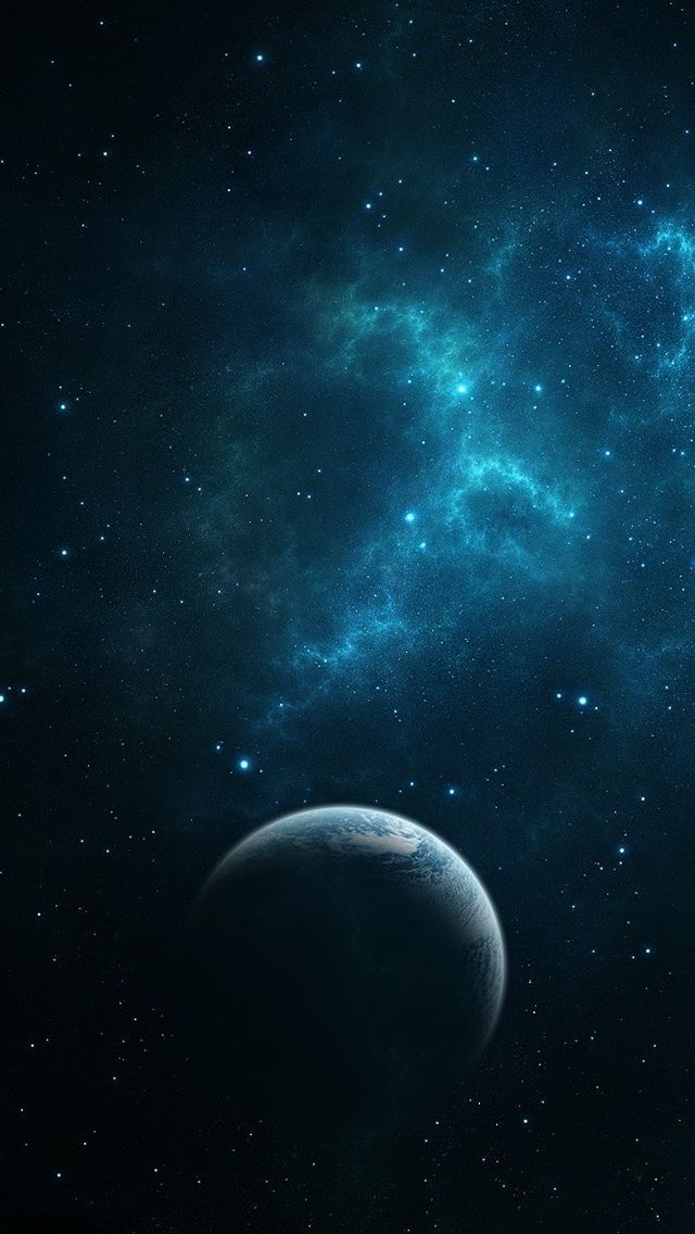 ↑↑TAP AND GET THE FREE APP! Art Creative Space Stars Planets Dust Milky Way Dark Blue HD iPhone Wallpaper