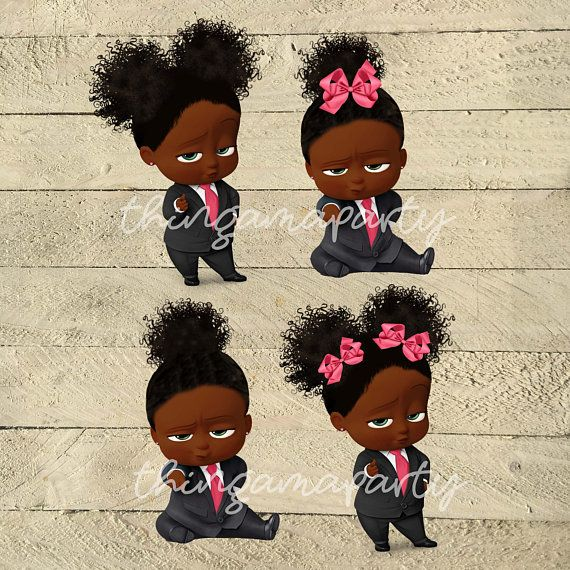African American Sassy Boss Baby Girl Babies Of Color Set