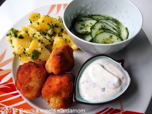 Ungarisches Sonntagsessen in vegetarisch – Panierter Blumenkohl mit Petersilienkartoffeln und Gurkensalat   Paprika meets Kardamom