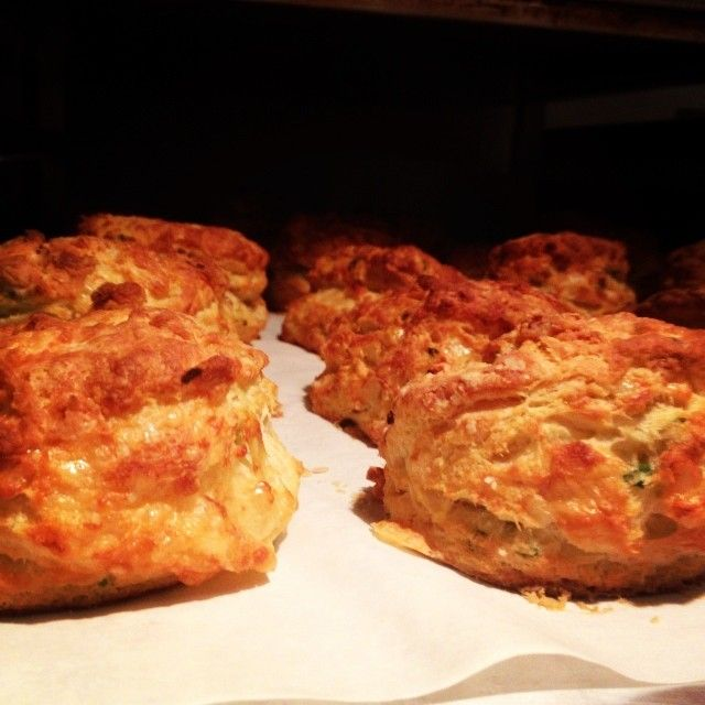"""""""Smoked cheddar-jalapeño biscuit for #tibsatnite #cdncheese #simplepleasures"""" - Feistychef"""