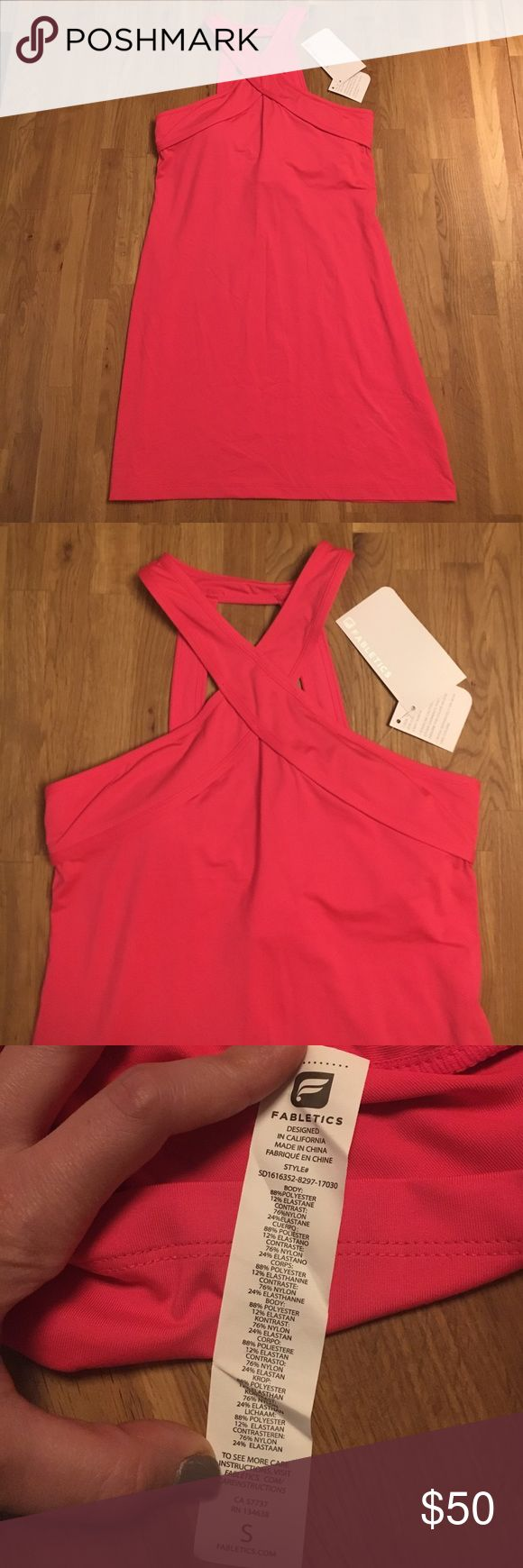 Fabletics Hot Pink Athletic Dress NWT Size Small New with tags hot pink Fabletics dress. Size Small. Fabletics Dresses