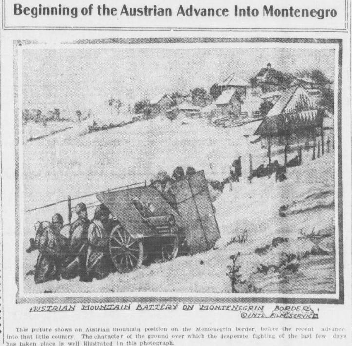 "WWI covered live on Twitter: ""Jan 19 1916 Austrian machine gun team hides behind shields while advancing in Montenegro https://t.co/plgNn3R91j https://t.co/9SASjf0t44"""