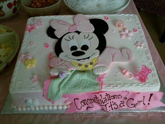 minnie mouse baby shower cakes minnie cakes mouse shower minnie baby